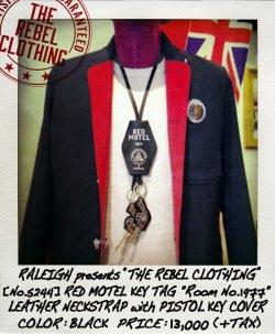 """画像1: RALEIGH / RED MOTEL KEY TAG """"Room No.1977"""" LEATHER NECKSTRAP (with PISTOL KEY COVER)"""
